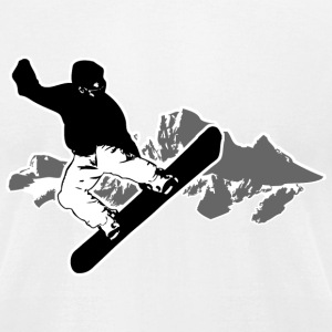 Snowboarding  T-Shirts - Men's T-Shirt by American Apparel