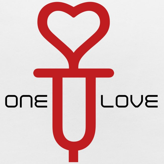 ONE LOVE - front print red/black velvet -one size - multi colors