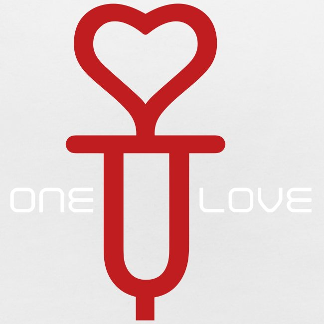ONE LOVE - front print red/white velvet -one size - multi colors