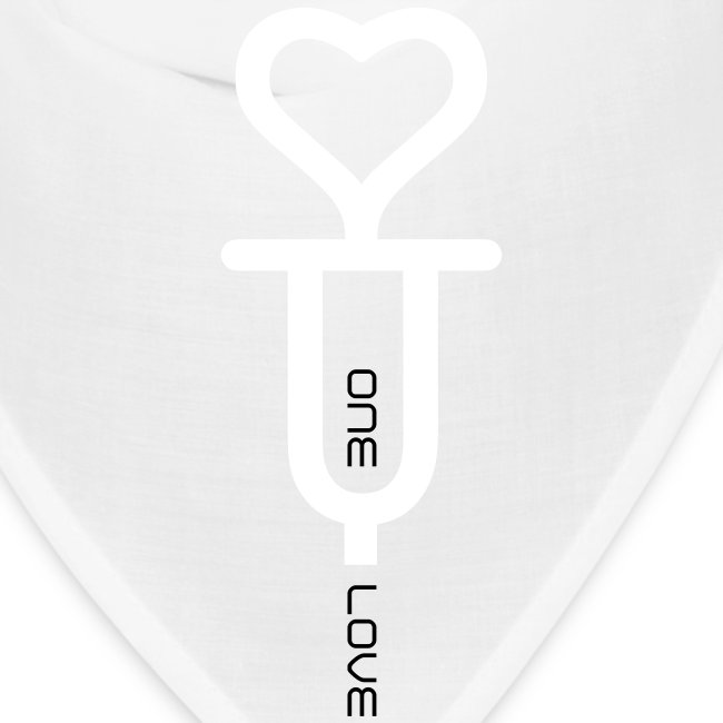 ONE LOVE - front print white/black - one size