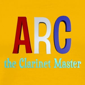 ARC the Clarinet Master - Red A logo - Men's Premium T-Shirt