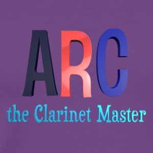 ARC the Clarinet Master - Plus size (White) - Men's Premium T-Shirt