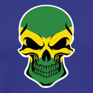 Jamaican Flag Skull - Men's Premium T-Shirt