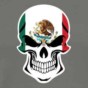 Mexican Flag Skull - Men's Premium T-Shirt
