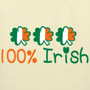 ♥ټ☘I'm 100% Irish-Irish Power Tote Bag☘ټ - Eco-Friendly Cotton Tote