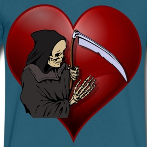 Grim Reaper Valentine - Men's V-Neck T-Shirt by Canvas