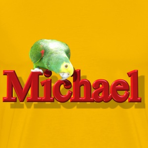 Michael With a Parrot  - Men's Premium T-Shirt