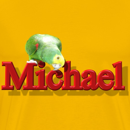 Michael With a Parrot