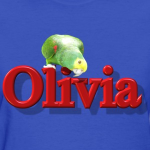 Olivia With a Parrot  - Women's T-Shirt