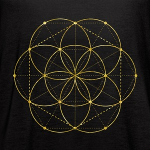 Golden Egg Of Life Sacred Geometry Tanks - Women's Flowy Tank Top by Bella
