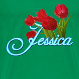 Jessica With Tulips - Men's Premium T-Shirt