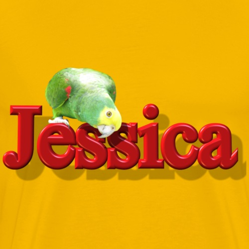 Jessica With a Parrot