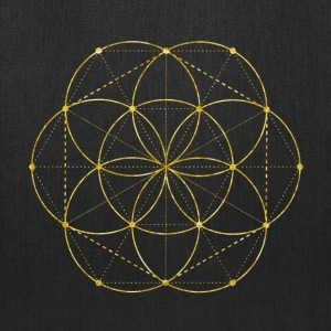 Golden Egg Of Life Sacred Geometry Bags & backpacks - Tote Bag