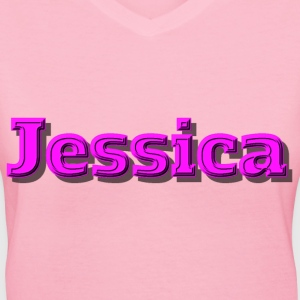 Jessica - Women's V-Neck T-Shirt