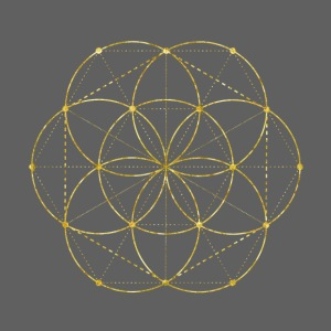 Golden Seed Of Life Sacred Geometry