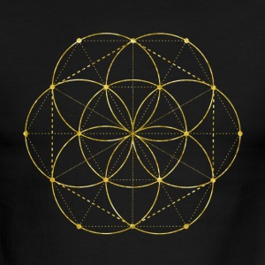 Golden Egg Of Life Sacred Geometry T-Shirts - Men's Ringer T-Shirt