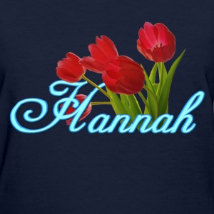 Hannah With Tulips - Women's T-Shirt