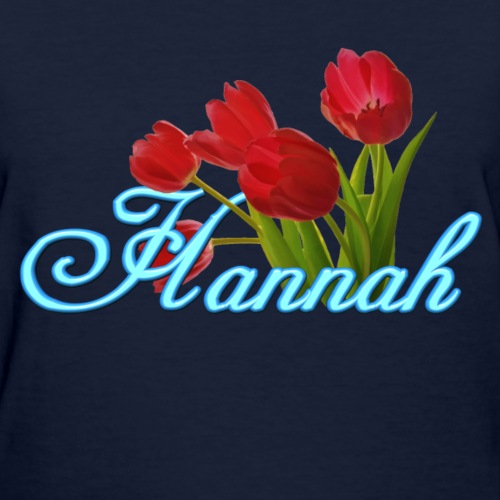 Hannah With Tulips