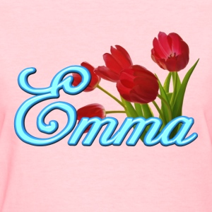 Emma With Tulips - Women's T-Shirt