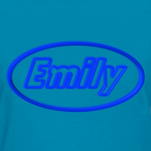 Emily in Neon Blue  - Women's T-Shirt