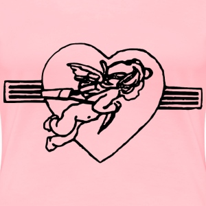 Cupid Flying - Women's Premium T-Shirt