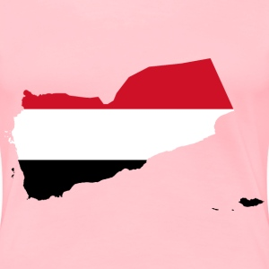 Yemen Map Flag - Women's Premium T-Shirt