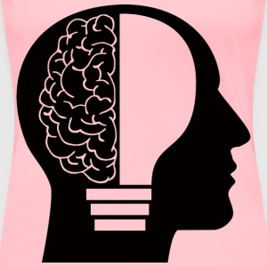 Man Light Bulb Brain - Women's Premium T-Shirt