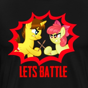 drum battle- drummershy vs apple bloom T-Shirts - Men's Premium T-Shirt