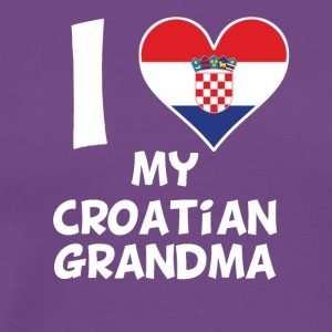 I Heart My Croatian Grandma - Men's Premium T-Shirt