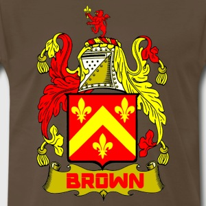 BROWN OF MONIMAIL CREST T-Shirts - Men's Premium T-Shirt