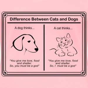 Difference Between Cats and Dogs - Women's Premium T-Shirt