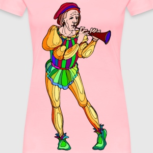 Shakespeare characters musician 1 (colour) - Women's Premium T-Shirt