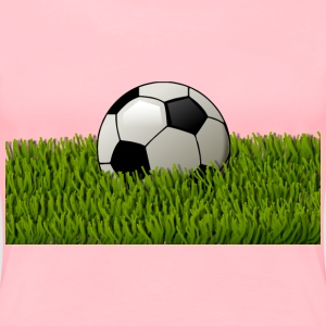 Soccer ball on grass 2 - Women's Premium T-Shirt