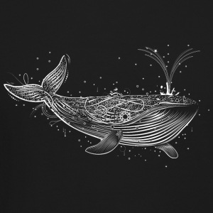 white whale in the ocean Long Sleeve Shirts - Crewneck Sweatshirt