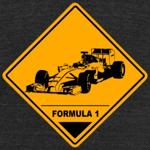 Formula One Racer Road Sign T-Shirts - Unisex Tri-Blend T-Shirt by American Apparel