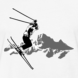 Alpine Ski  T-Shirts - Fitted Cotton/Poly T-Shirt by Next Level