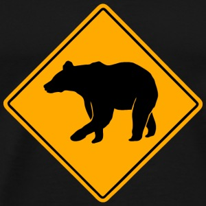 Bear Road Sign T-Shirts - Men's Premium T-Shirt