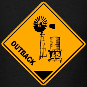 Outback Road Sign T-Shirts - Men's T-Shirt