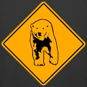 Polar Bear Road Sign T-Shirts - Men's 50/50 T-Shirt