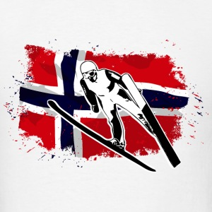 Ski Jumping - Norway Flag T-Shirts - Men's T-Shirt