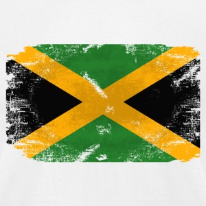 Jamaica Flag T-Shirts - Men's T-Shirt by American Apparel