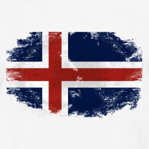 Iceland Flag T-Shirts - Fitted Cotton/Poly T-Shirt by Next Level