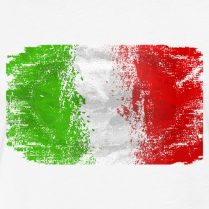 Italy Flag T-Shirts - Fitted Cotton/Poly T-Shirt by Next Level