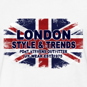 London - Union Jack - UK Flag T-Shirts - Fitted Cotton/Poly T-Shirt by Next Level
