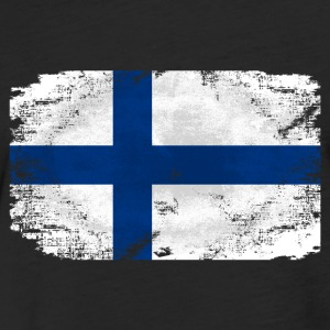 Finland Flag T-Shirts - Fitted Cotton/Poly T-Shirt by Next Level