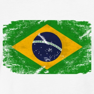 Brazil Flag T-Shirts - Fitted Cotton/Poly T-Shirt by Next Level