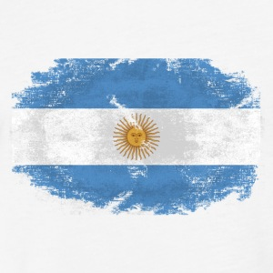 Argentina Flag T-Shirts - Fitted Cotton/Poly T-Shirt by Next Level