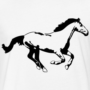 Horse T-Shirts - Fitted Cotton/Poly T-Shirt by Next Level