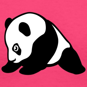 Baby panda profile T-Shirts - Women's V-Neck T-Shirt