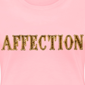 Noble characteristic typography affection - Women's Premium T-Shirt